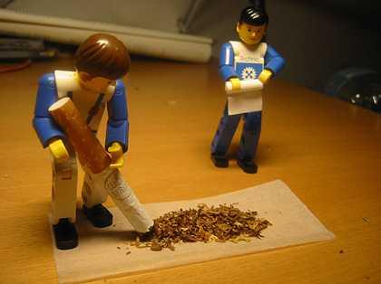 Tabak einfüllen
