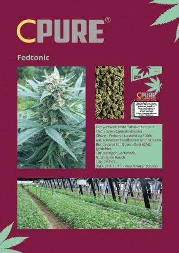 CPure Fedtonic CBD-Cannabis Tabakersatz 10g