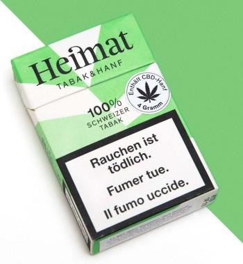 Heimat Tabak & Hanf Zigaretten mit CBD-Hanf