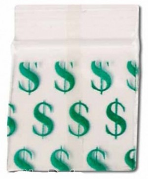 Schnellverschlussbeutel Dollar  50x50mm