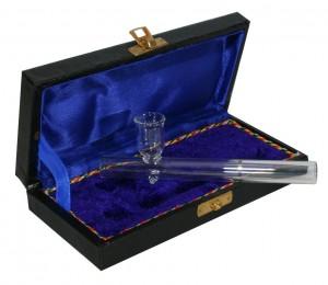 Glaspfeife mit Koffer