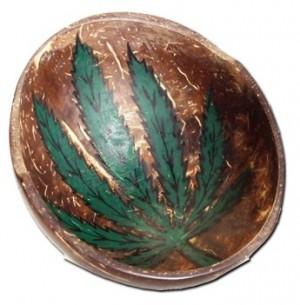 Kokosnuss Mischschale Hanfblatt