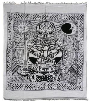 Batiktuch Pentagramm XL