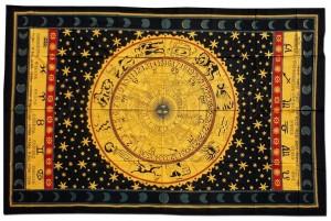 Batiktuch Sternzeichen