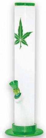 Acrylbong mit Cannabisblatt
