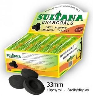Wasserpfeifenkohle Sultana 33mm