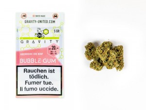 GRAVITY Bubble Gum Hanfblüten Tabakersatz