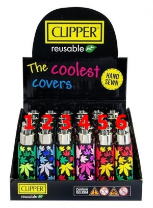 Clipper Feuerzeug PVC Cover Leaves
