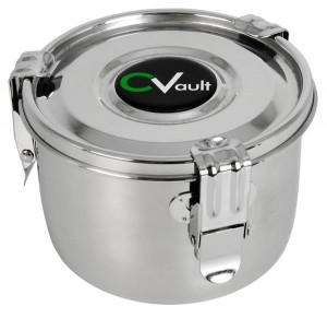 CVault luftdichte Edelstahl Vorratsdose large 0.95 L