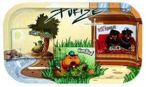 "PURIZE ""Stigga Zoo"" Dreh-Tablett Rolling Tray"
