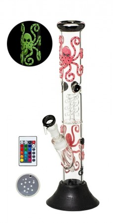 Grace Glass Octopoda LED Glas Bong 43cm