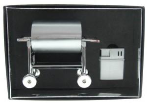 BBQ Grill Aschenbecher mit Feuerzeug