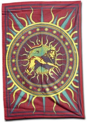 Batiktuch Rasta Lion