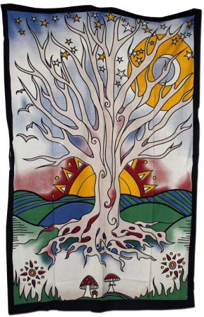 Batiktuch Tree of Life