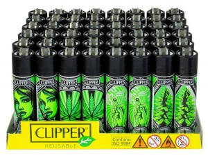 Clipper Feuerzeug Grass Art