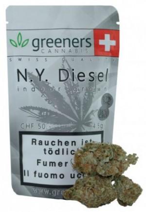 Greeners N.Y. Diesel Indoor Cannabis Blüten Tabakersatz