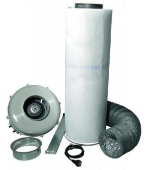 Lüftungsset 800 m³/h Rohrventilator und Akf.