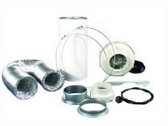 Lüftungsset 420/800 m³/h Rohrventilator und Aktivkohlefilter