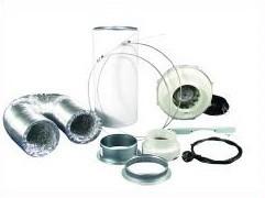 Lüftungsset 230/360 m³/h Rohrventilator und Aktivkohlefilter