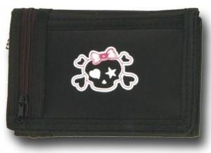 Portemonnaie mit verliebtem Totenkopf
