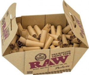 RAW Pre-Rolled Cone Tips 100 Stk.