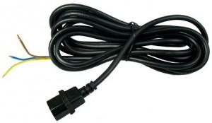 Reflektorkabel mit IEC-Connector (männlich)