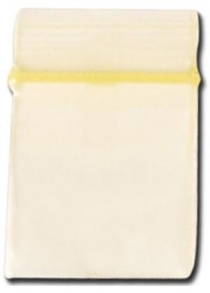 Schnellverschlussbeutel gelb 18x18mm