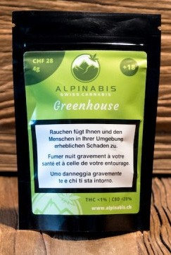 Alpinabis Greenhouse CBD-Hanfblüten