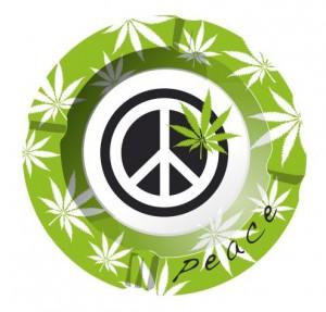 Aschenbecher Peace Leaf