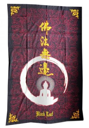 Batiktuch Black Leaf Buddha 140 x 210cm