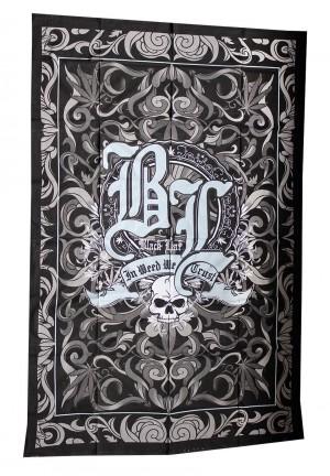 Batiktuch Black Leaf In Weed We Trust 140 x 220cm