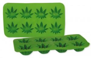 Cannabis Silikon-Eiswürfelform