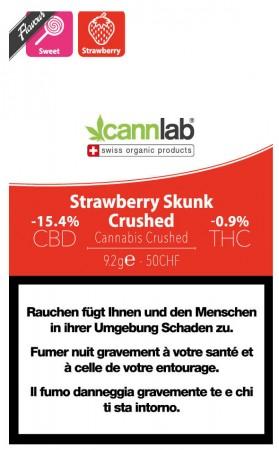 Cannlab Strawberry Skunk Crushed Hanfblüten Tabakersatz