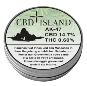 CBD Island AK-47 Hanfblüten Tabakersatz