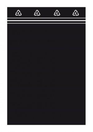 Druckverschlussbeutel 60x80mm, schwarz