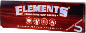 Elements Red 1 1/4 Hemp Papers