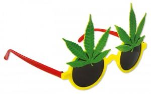 Partybrille mit Cannabis-Blatt