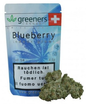 Greeners Blueberry Indoor Cannabis Blüten Tabakersatz