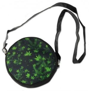 Handtasche mit Hanf-Blättern