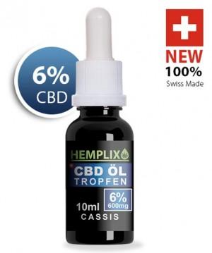 Hemplix CBD Öl Tropfen 6% 10ml Cassis