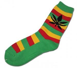 In Weed we trust! Socken Rastafarben