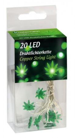 LED-Lichterkette Hanfblatt