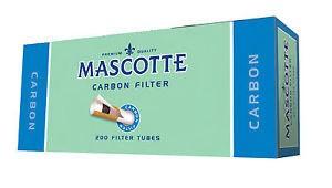 Mascotte Carbon Zigarettenhülsen