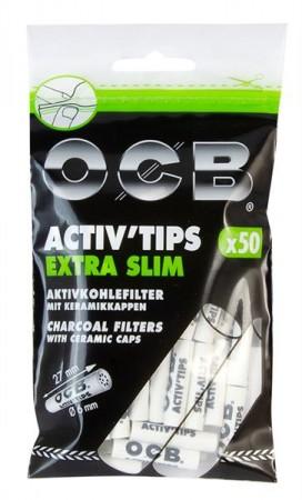 OCB Activ'Tips EXTRA Slim Aktivkohlefilter 6mm 50 Stk.