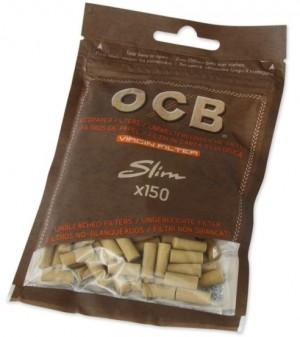 Zigarettenfilter OCB Unbleached Virgin Slim