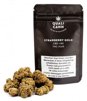Qualicann Strawberry Gold CBD Hanfblüten Tabakersatz