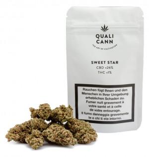 Qualicann Sweet Star CBD Hanfblüten Tabakersatz