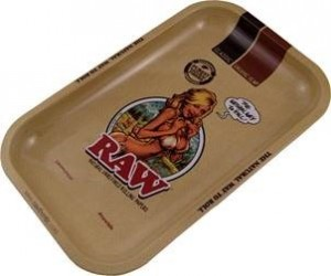 Raw Girl Rolling Tray Small
