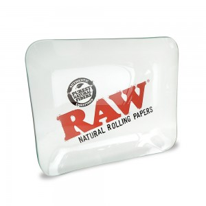 Raw Limited Edition Glass Rolling Tray 33 x 28cm