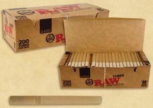 Raw Zigarettenhülsen Tubes 200 Stk.
